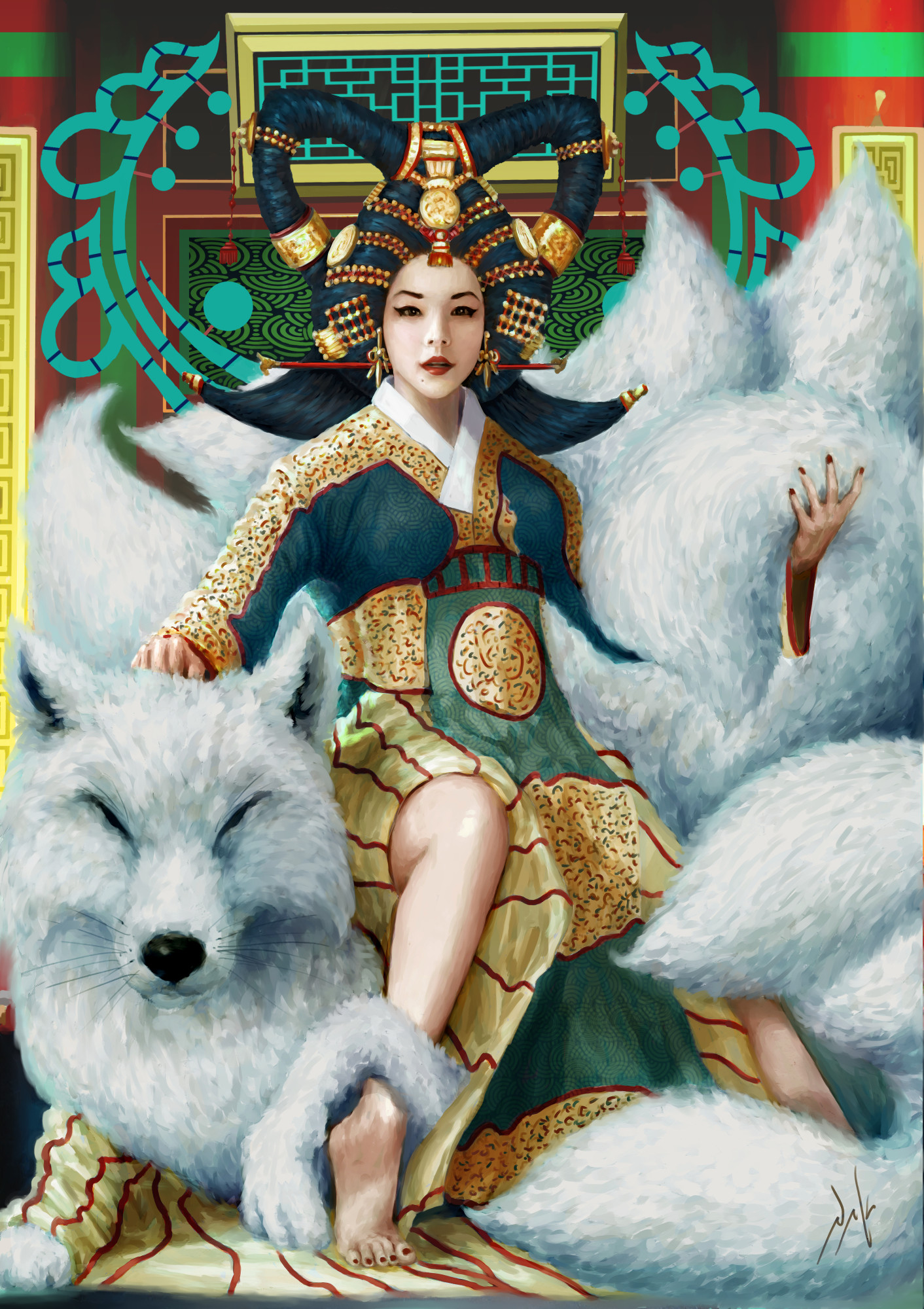 Naka isurita seven tail fox empress