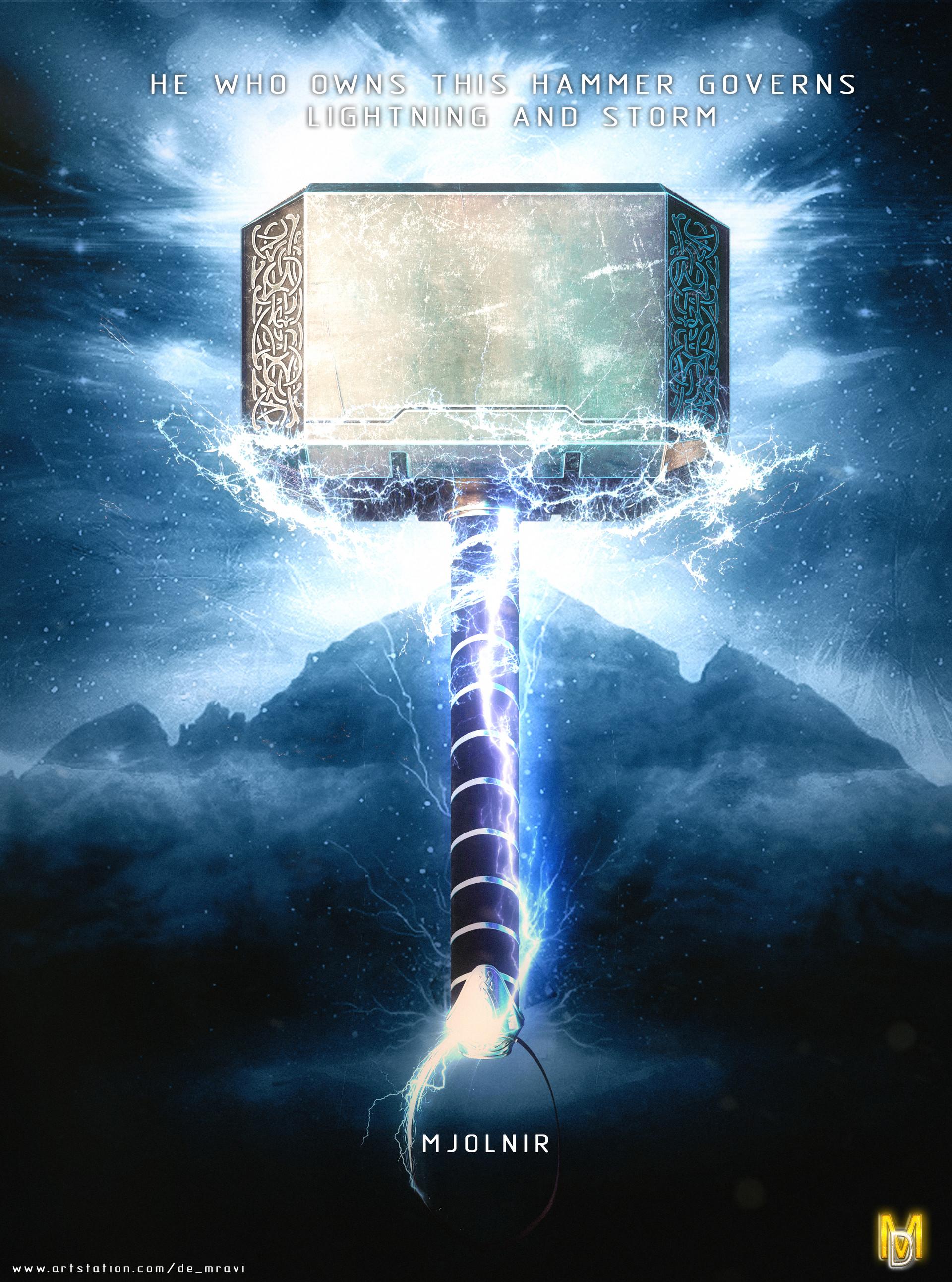 Artstation Mjolnir Thor S Hammer De Mravi