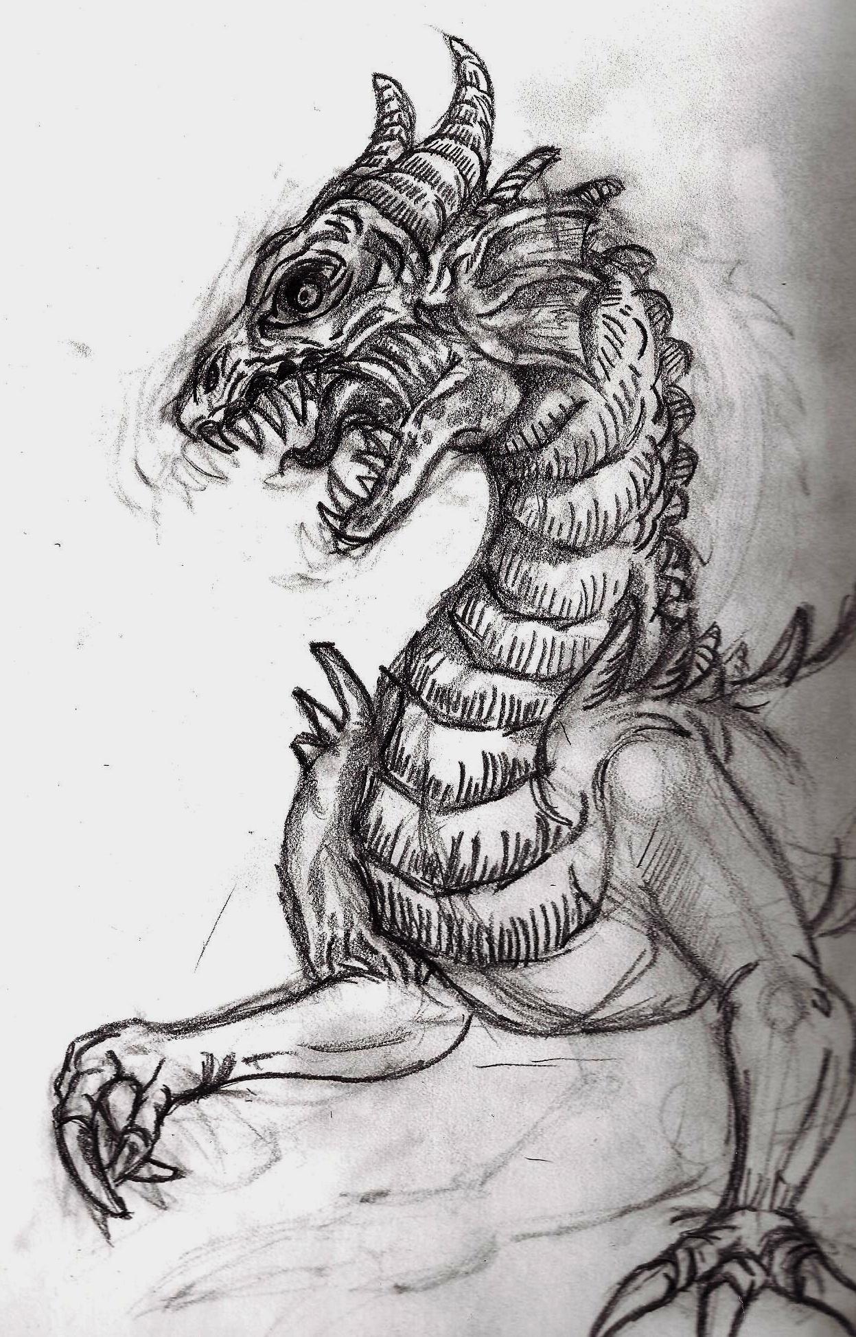 Christopher mckiernan pencil dragon