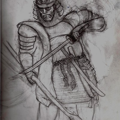Christopher mckiernan samurai drawing2