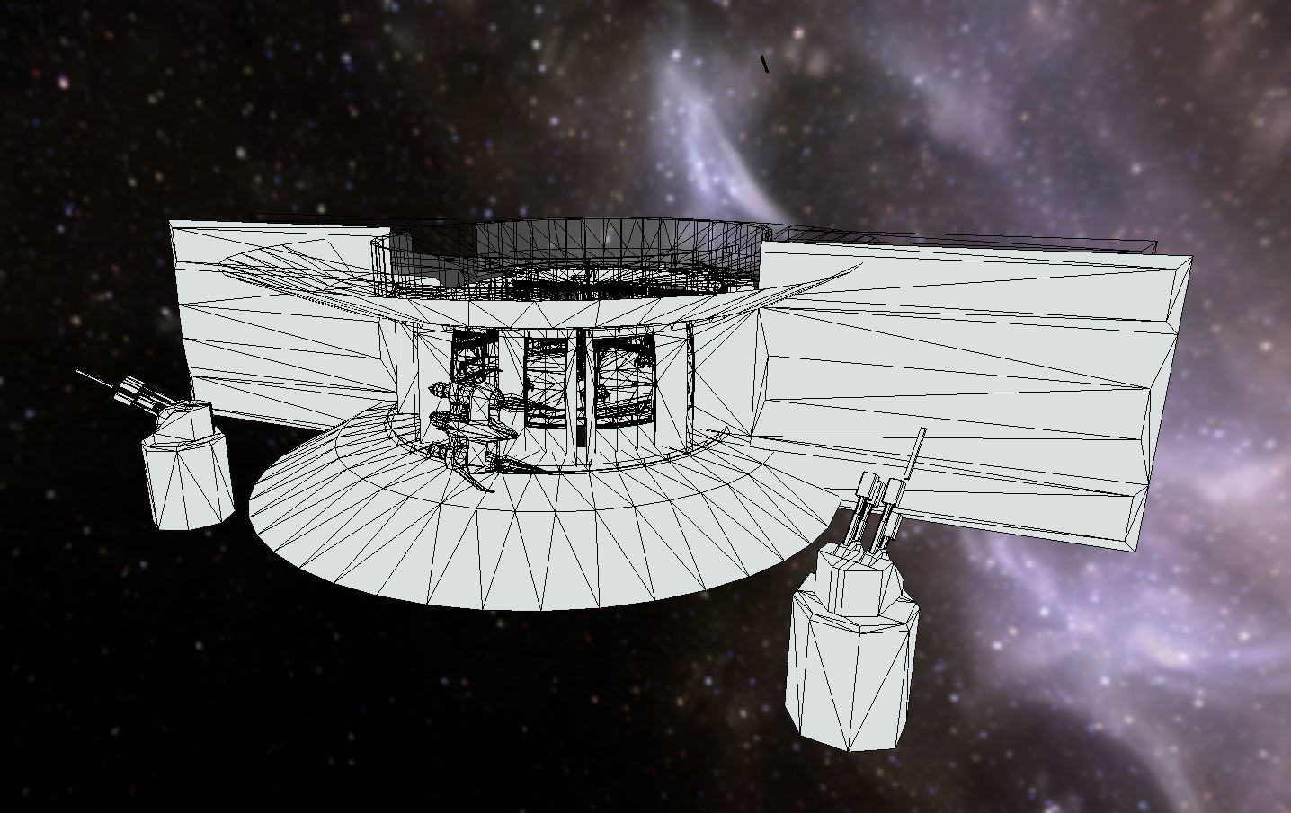Outside the station (wireframe)