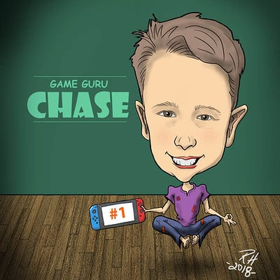 Richard huard chase caricature