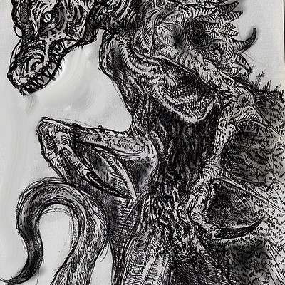 Christopher mckiernan dragon drawing
