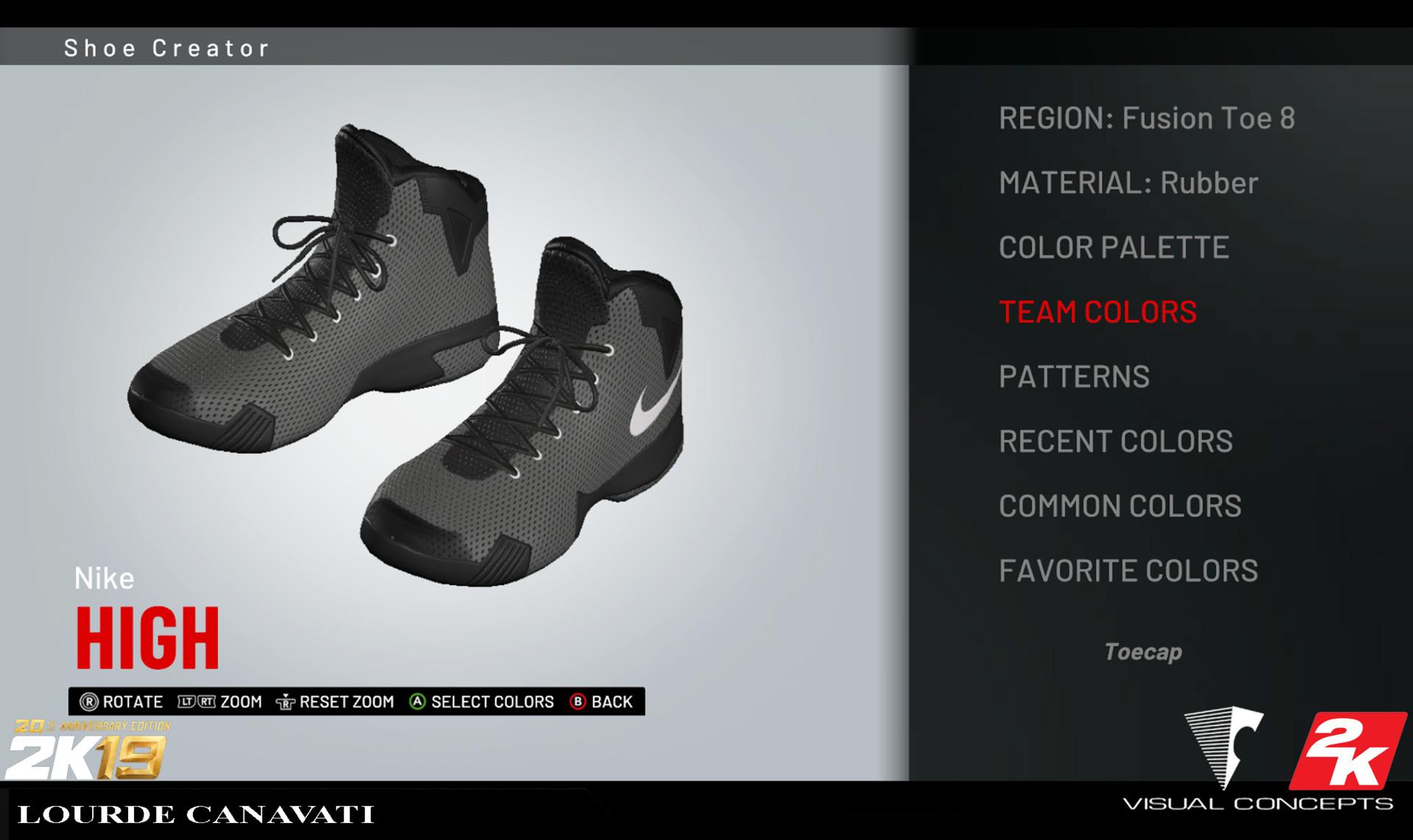 2k shoe creator