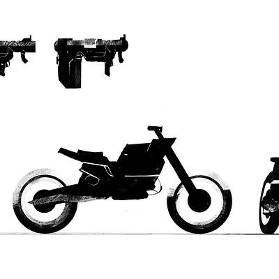 Clement mona motor girl shoot planche moto bazooka