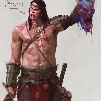 Miguel iglesias character barbarian5kfollower artstation