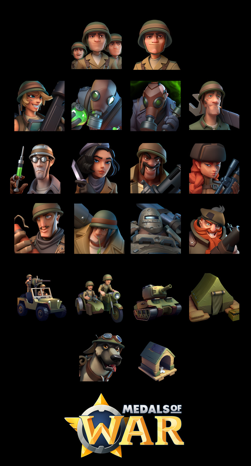 Character icons