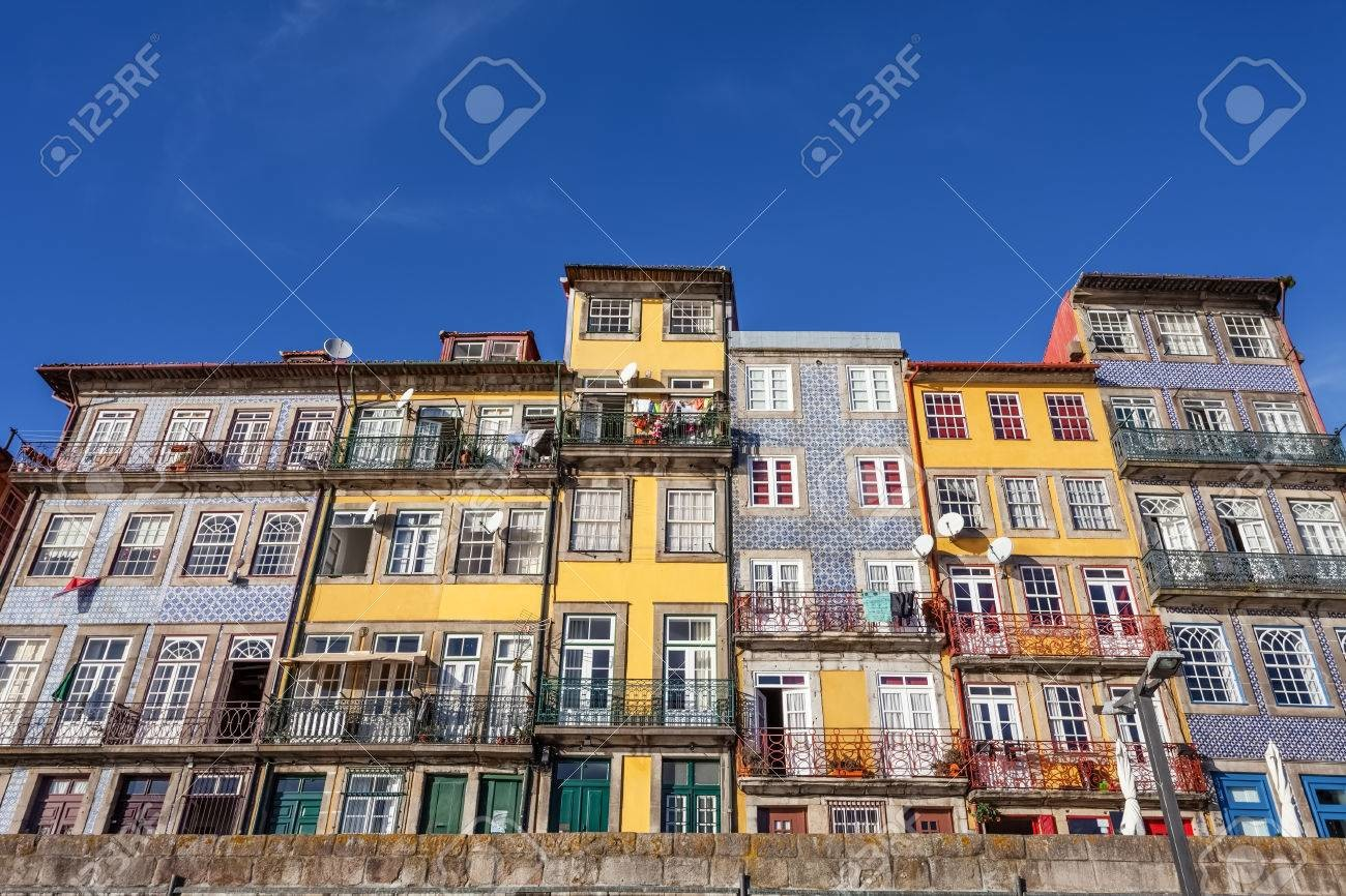 Alina godfrey 36841405 the typical colorful buildings of the ribeira district in porto portugal