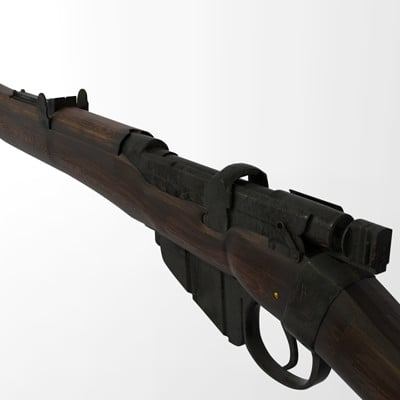 Emil larsen lee enfield textured view left angled