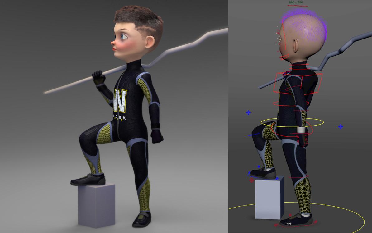 ArtStation - cartoon character +free maya plugin, mahmood