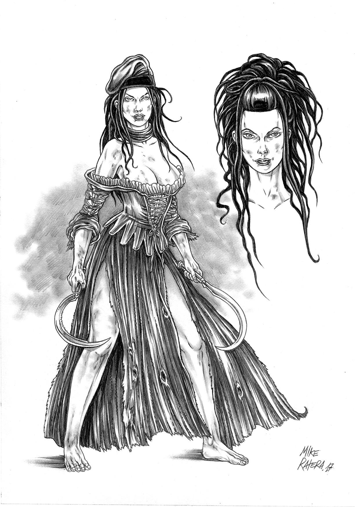 Mike ratera segadors reaper girl concept 2b