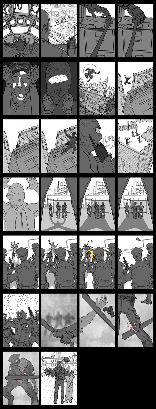 Storyboards for Mobile Comic