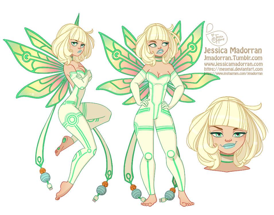 Jessica madorran character design tinkerbell 2018 artstation