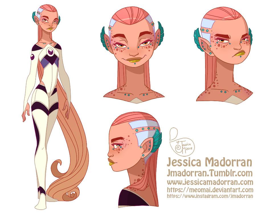 Jessica madorran character design tiger lily 2018 artstation