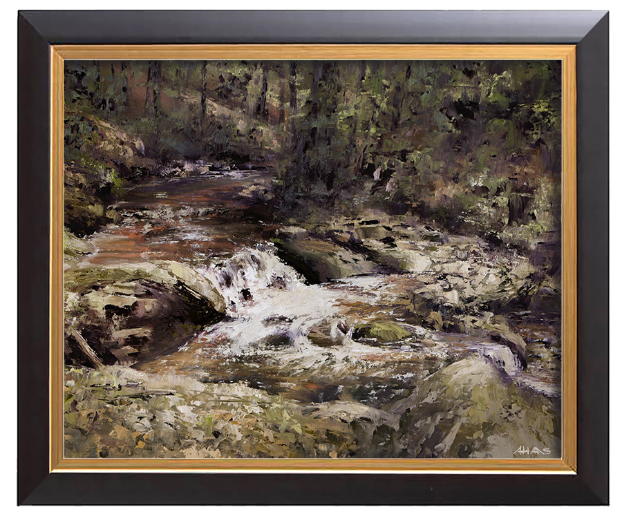 Arthur haas arthur haas waterfall v framed small