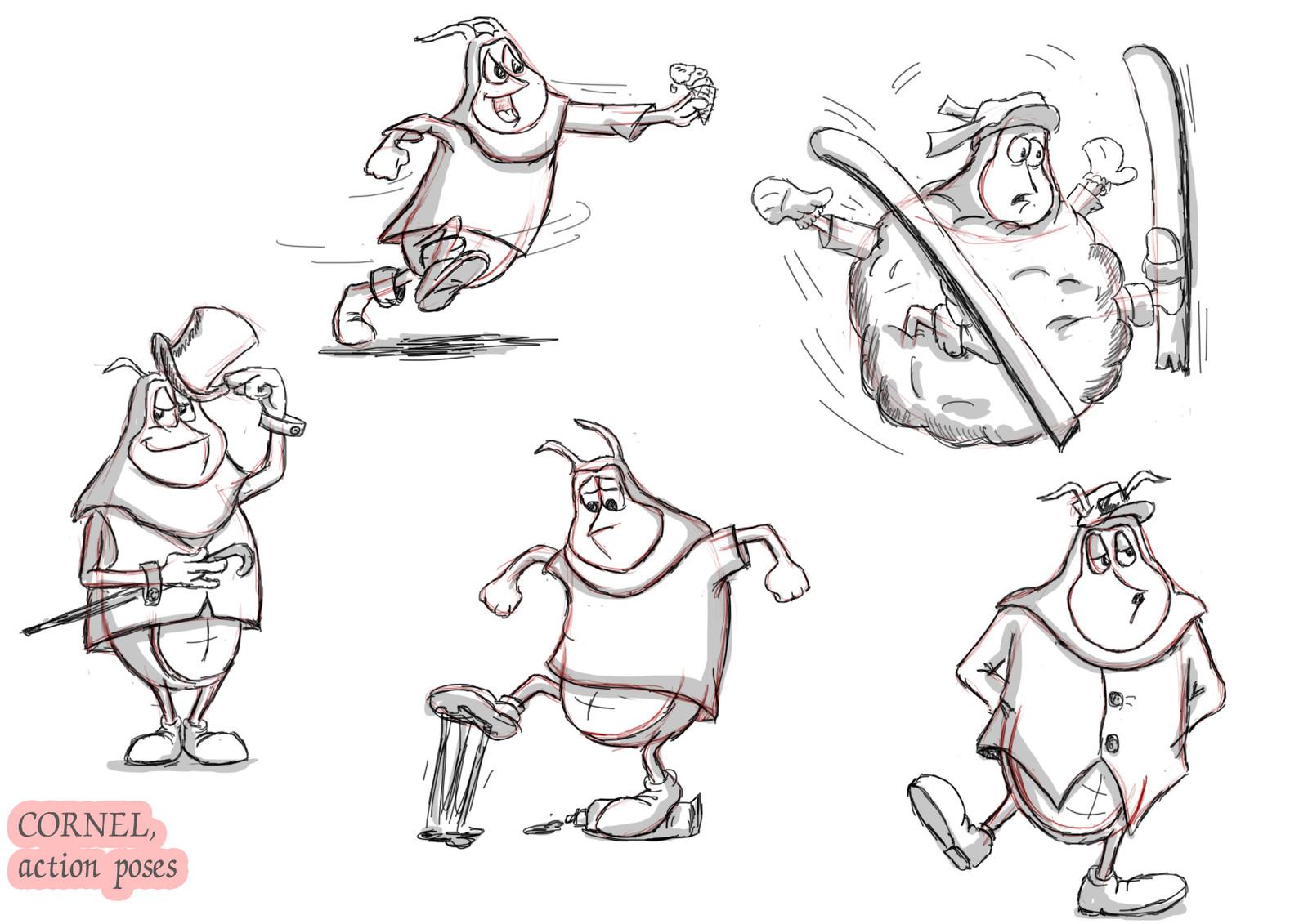 Cornelius, Character Design Sheets