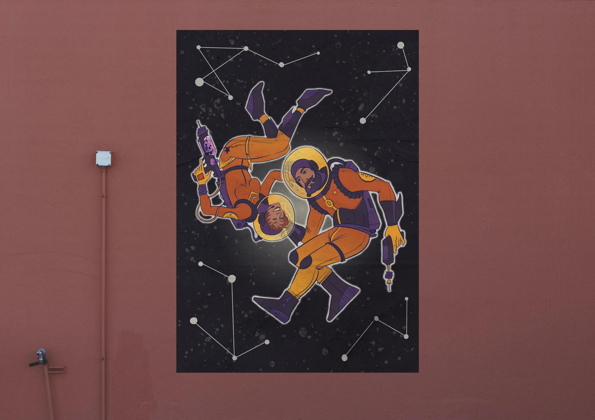 retro astronaut posters - HD1920×1357