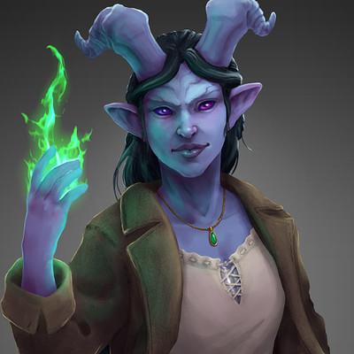 Adela quiles tiefling warlock final web