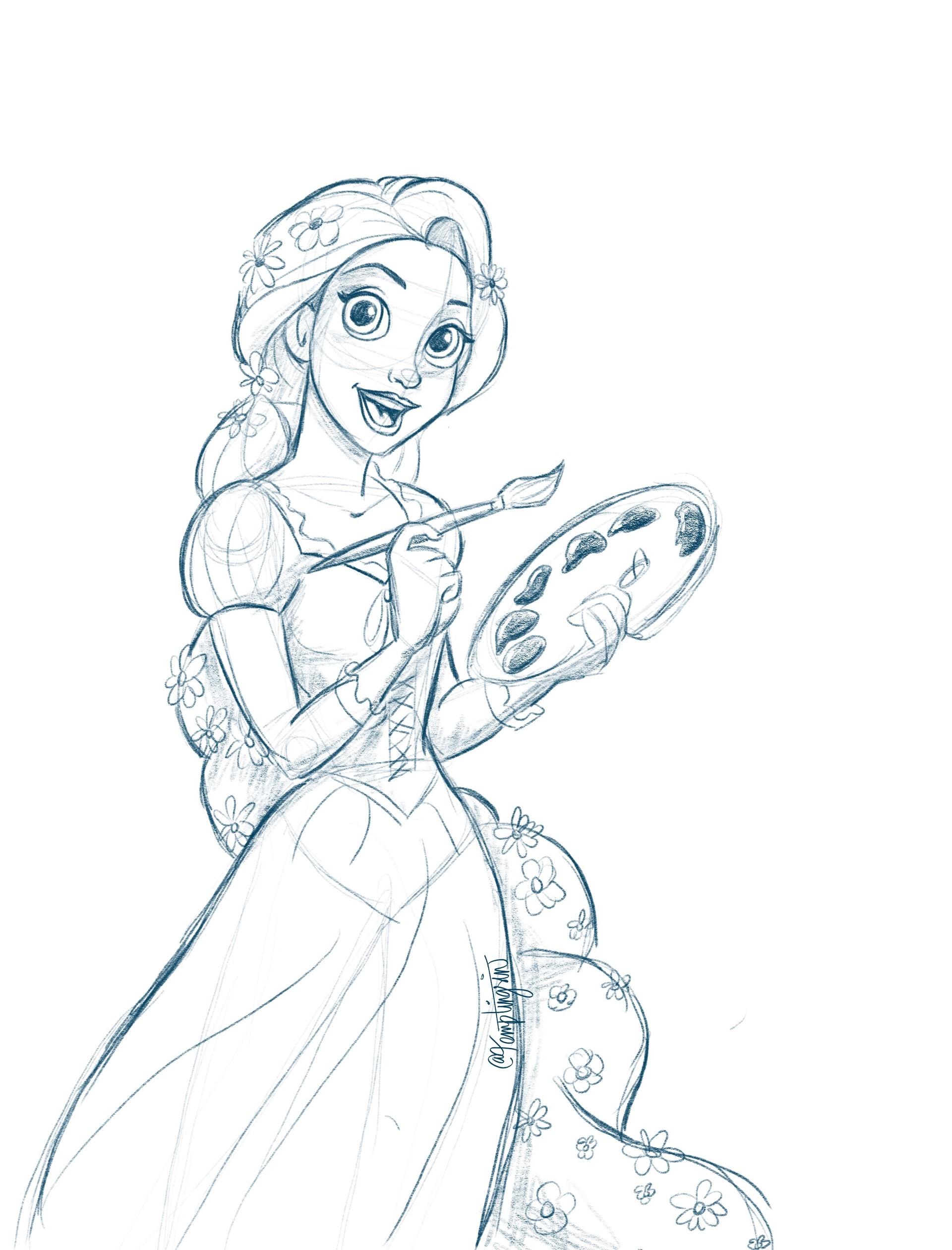 Artstation Disney Princess Sketches Nikki Larson