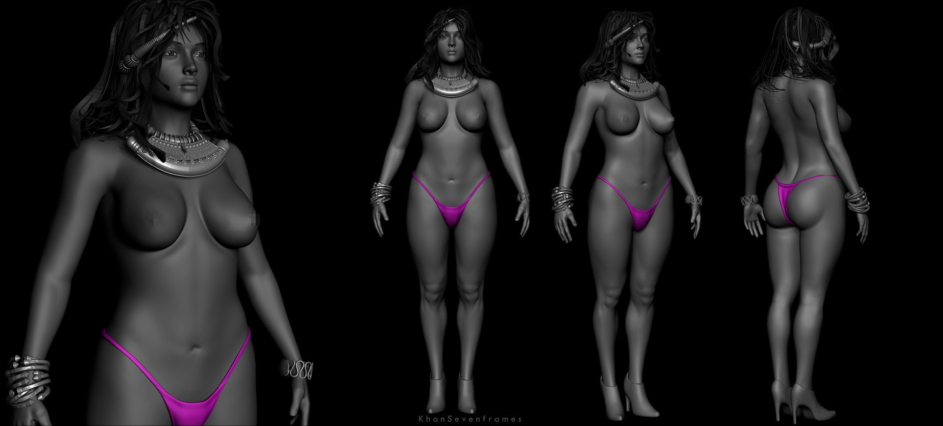 ArtStation - Anatomy -Female Practice, Khan SevenFrames