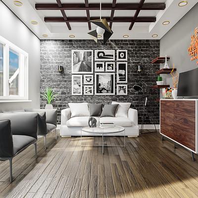 Abdelrahman eldesoki modern living room5