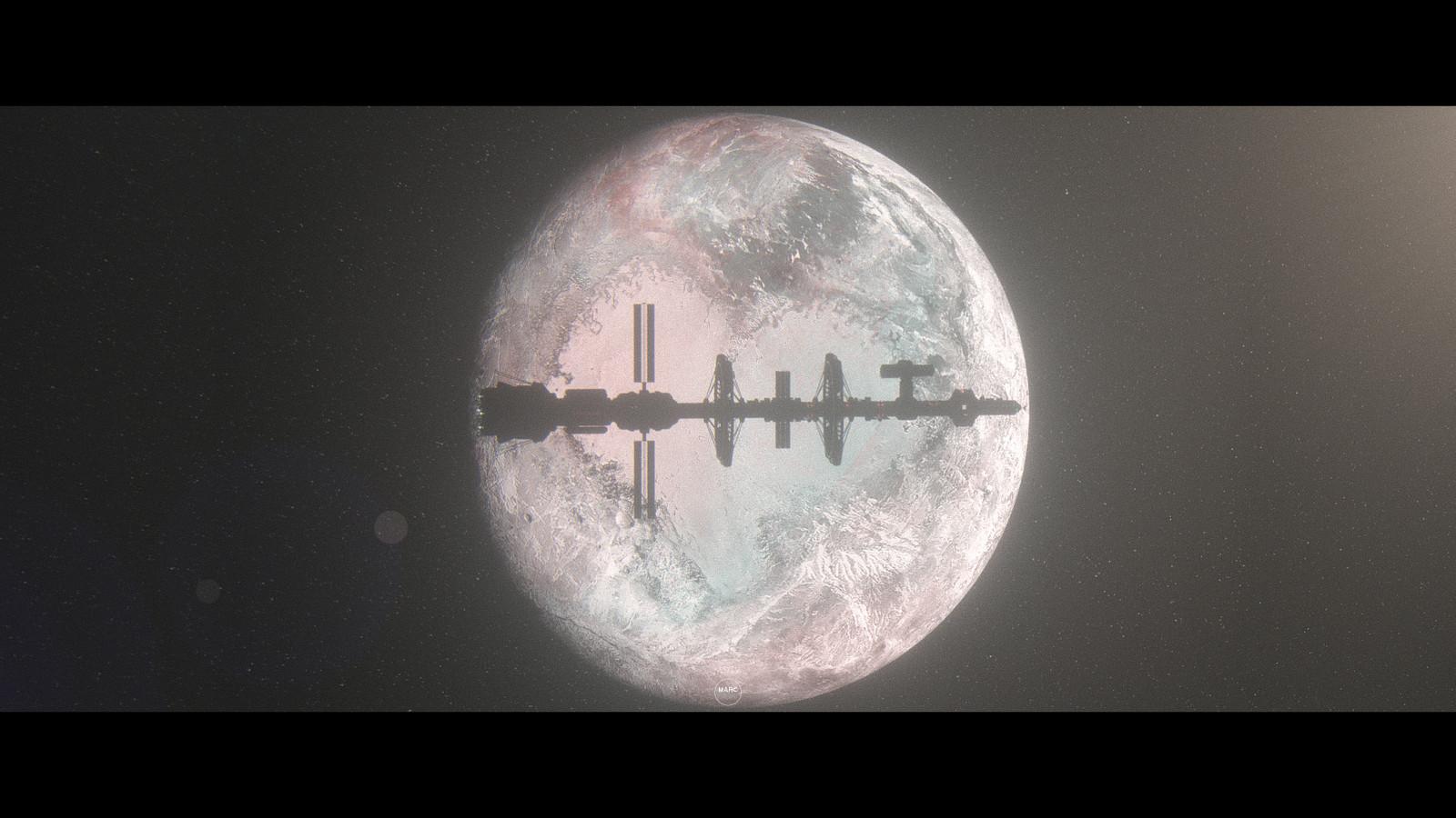 Daybreak orbiting Pluto