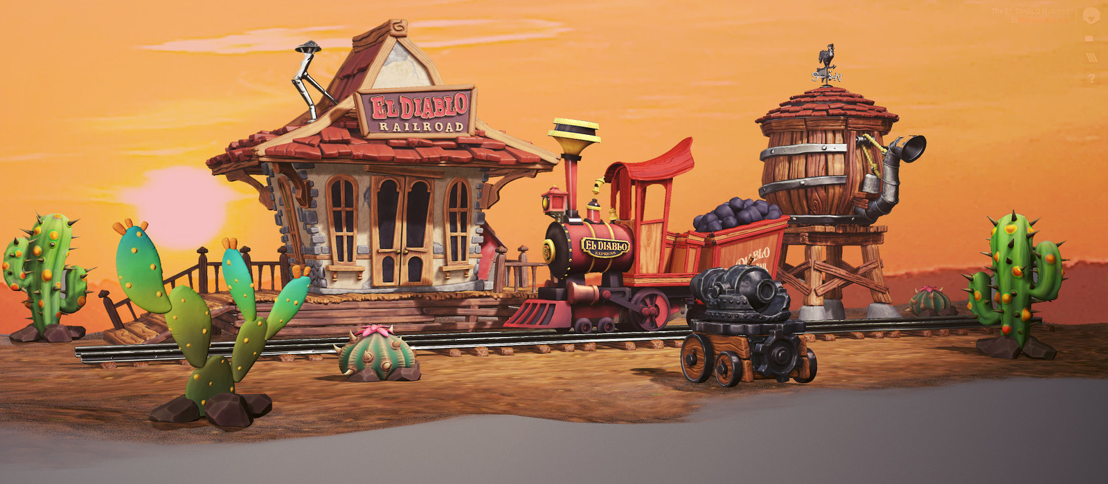 El Diablo - Stylized Wild West