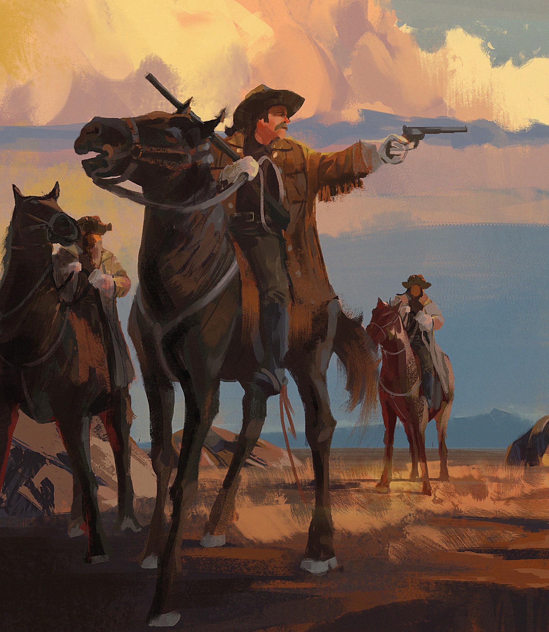 Kevin moran cowboy sketch 2