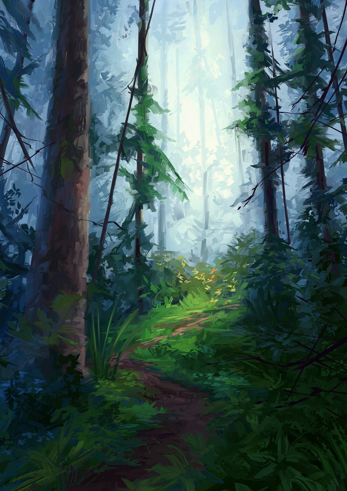 Forest painting v2