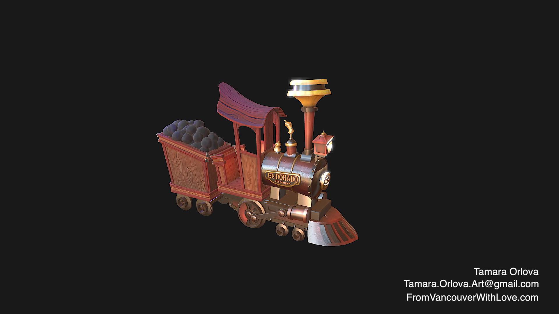 Stylized Wild West Locomotive