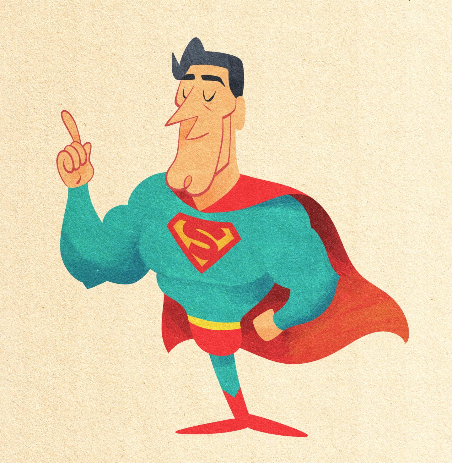 Vintage-Style Superman