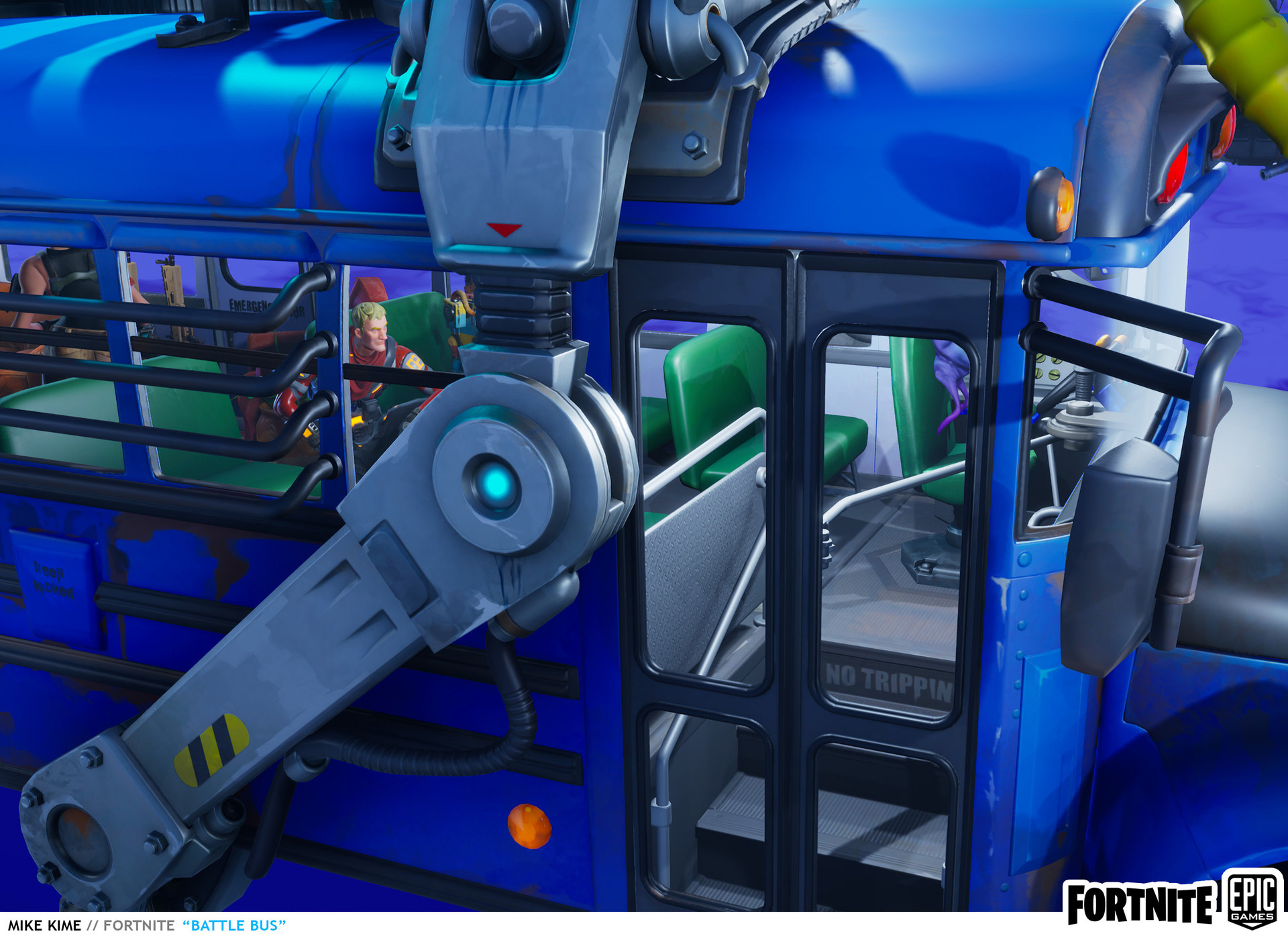 Mike kime fortnite battle bus notripping