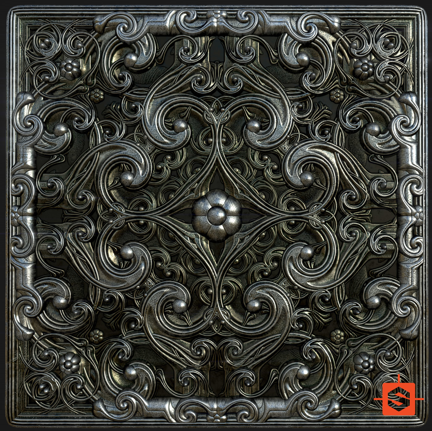 Massive Iron Pattern - v03 - Substance Designer