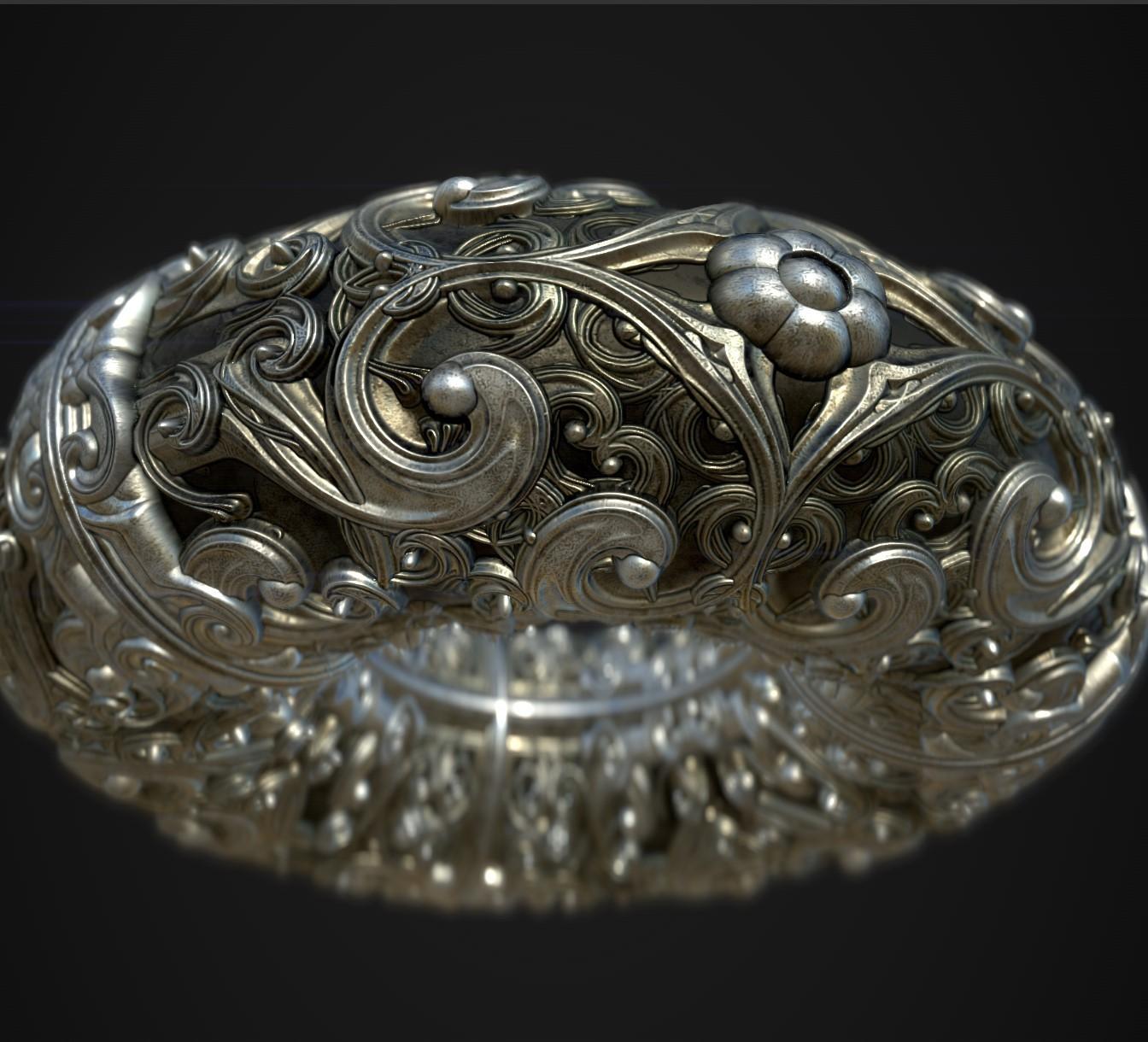 Ornamental Torus (Bracelet ?)