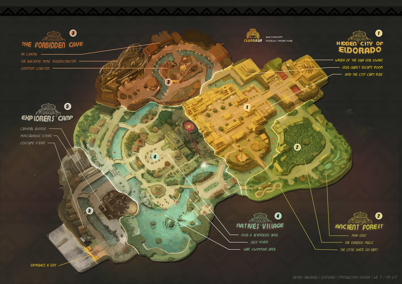 Eldorado Theme Park Map