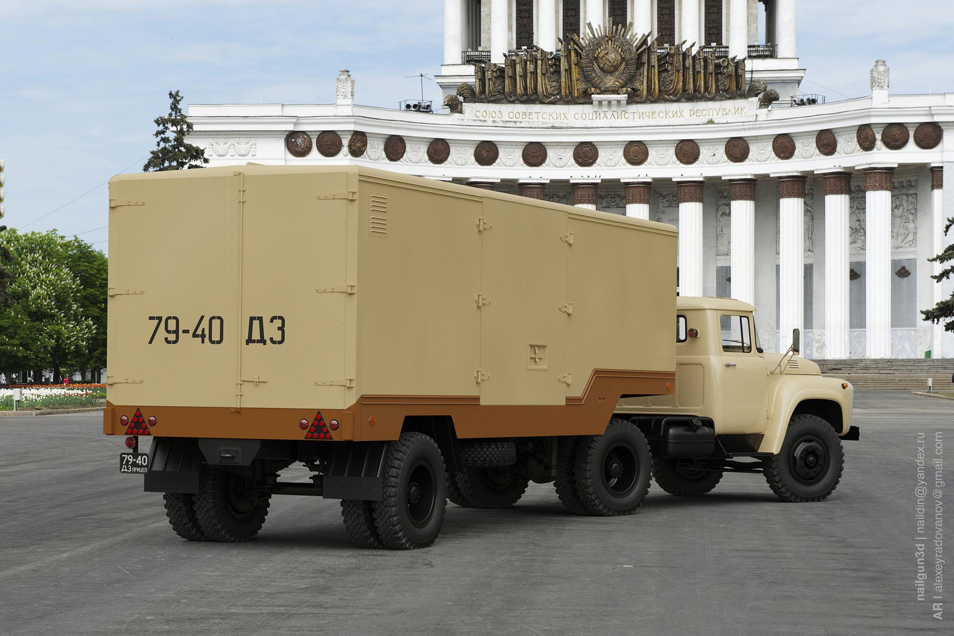 Nail khusnutdinov salg 001 010 zil 131 odaz 794 rear view 3x