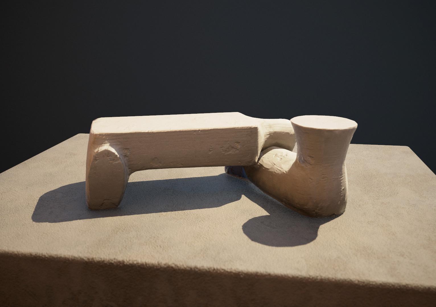 Bench, orig. by Isamu Noguchi.