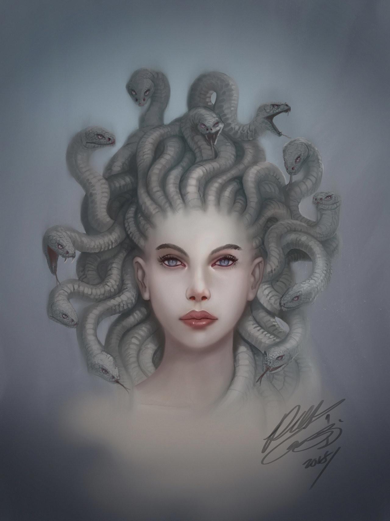 Robert crescenzio medusa portrait by robertcrescenzio dcnqoqq