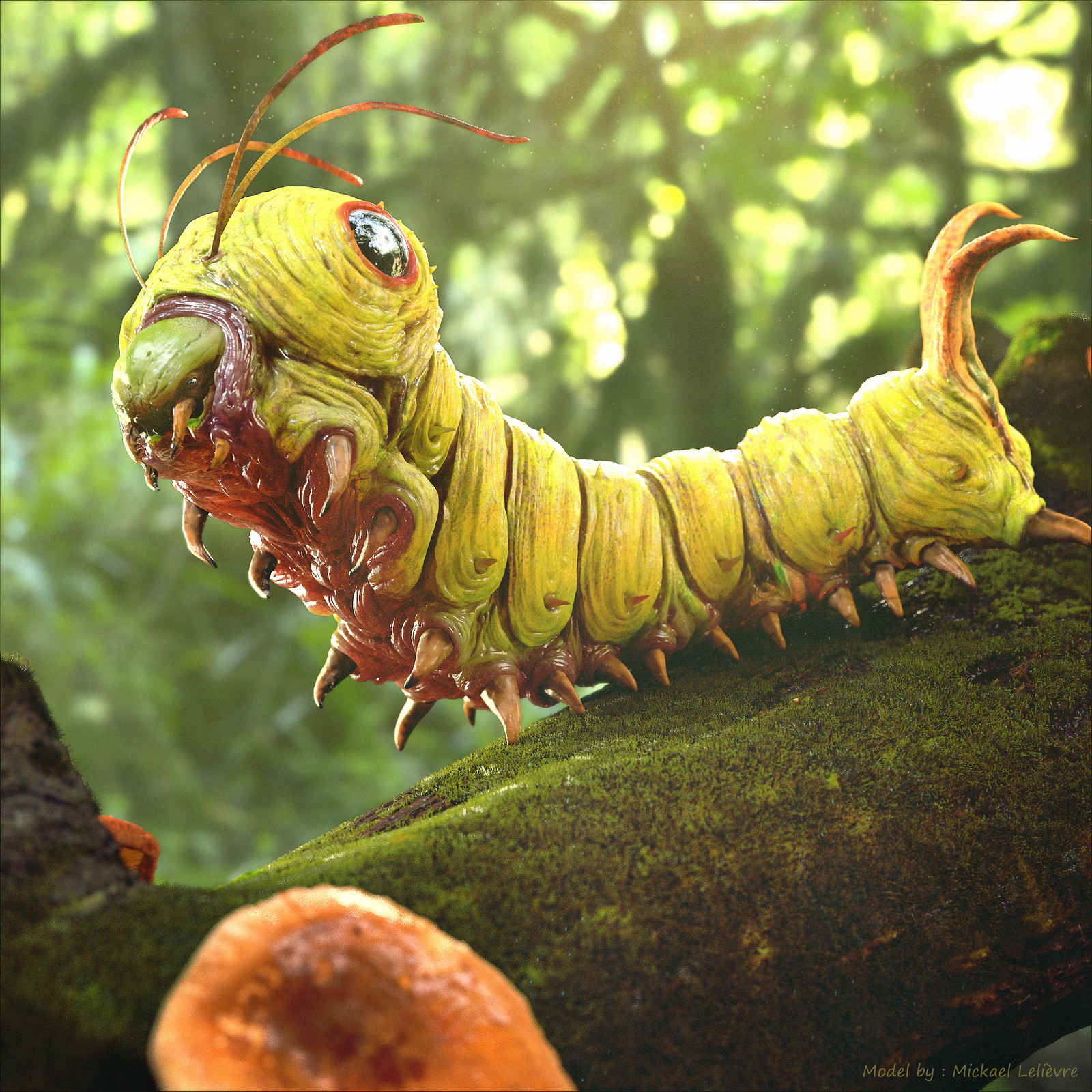 Pokemon #010 - Caterpie (model by : Mickael Lelièvre)