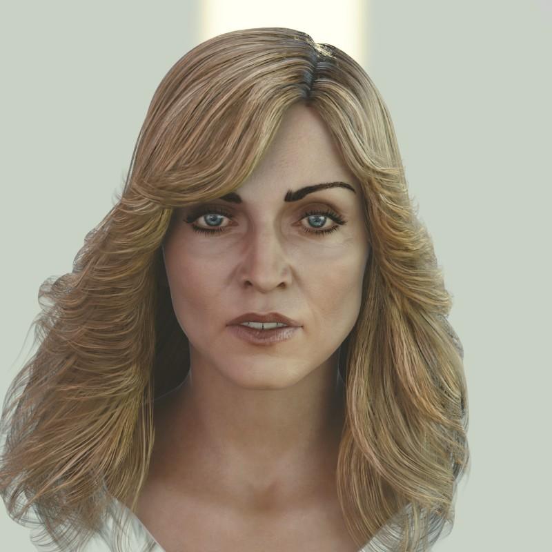 Artstation Madonna Singer Head Photorealistic Female 3d Model