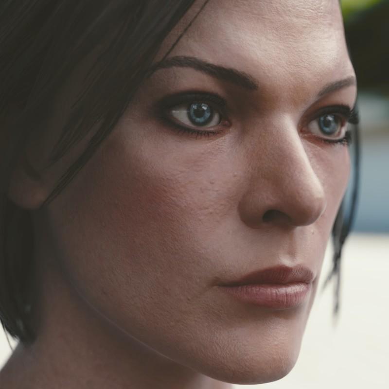 Face Milla Jovovich Mold