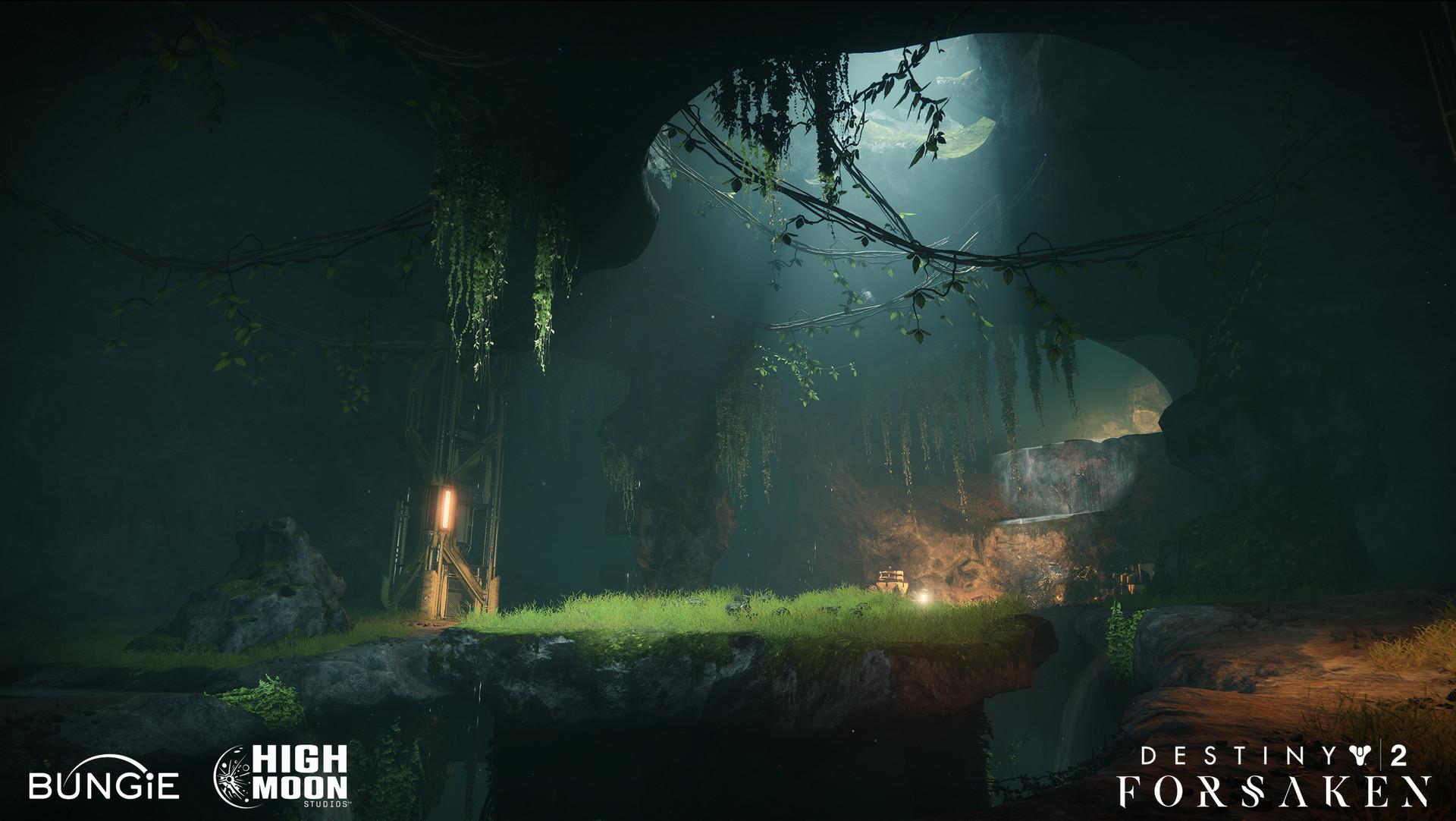 ArtStation - Destiny 2 Forsaken: Trapper's Cave, Richard Rude