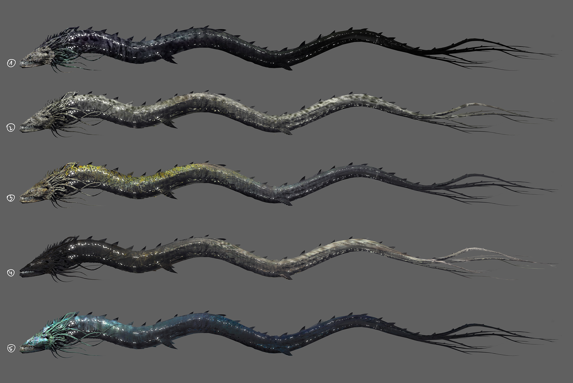 Concept-art ideas and color variations.