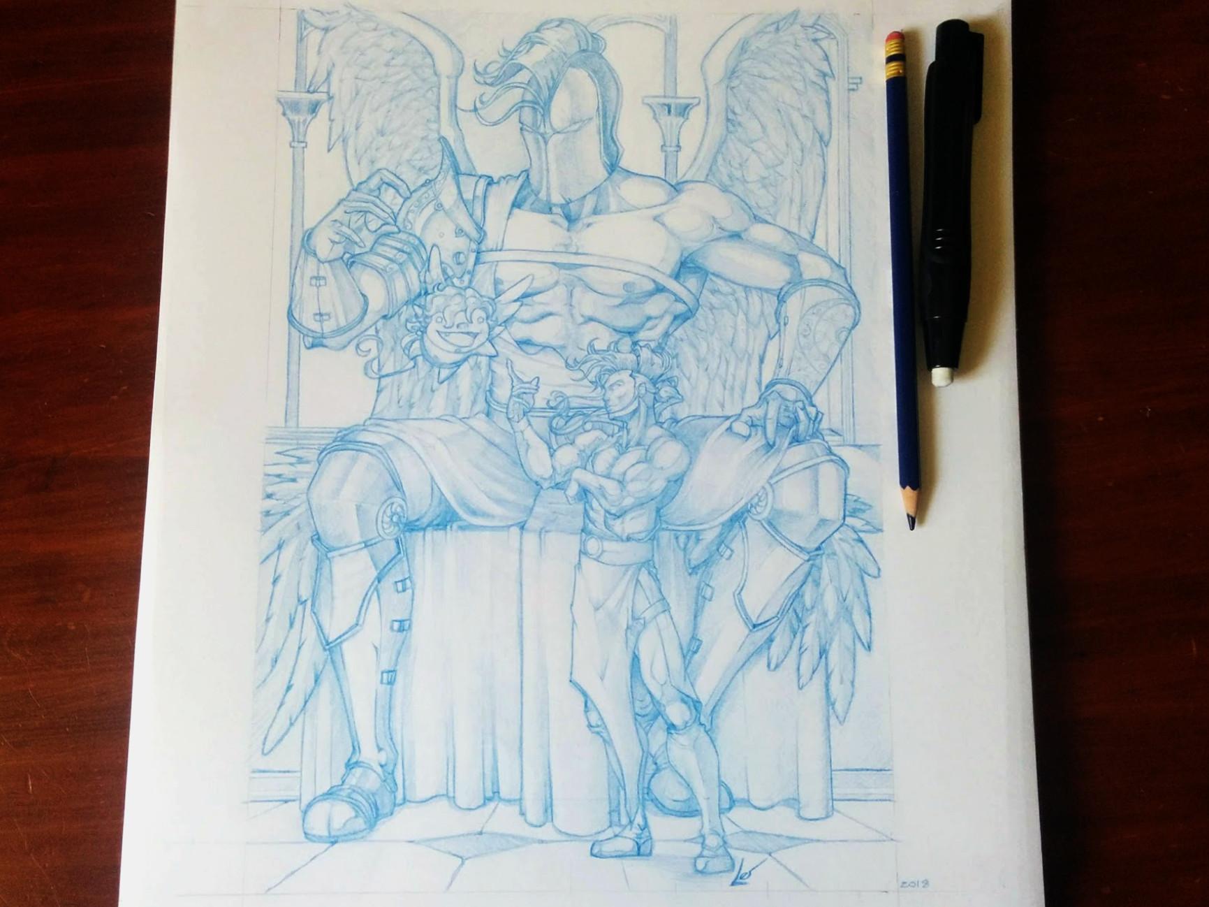 """Photo of finished illustration 8x12"""" colerase"""