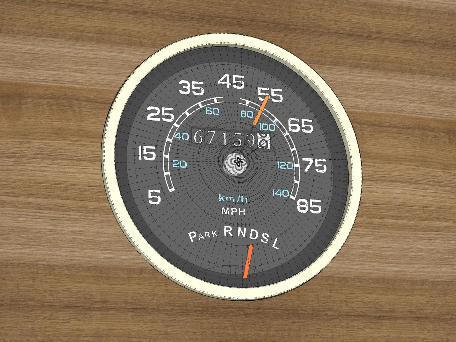Built with SketchUp 2018 1977 GMC Motorhome speedometer V2017-Scene 3 SketchUp.png