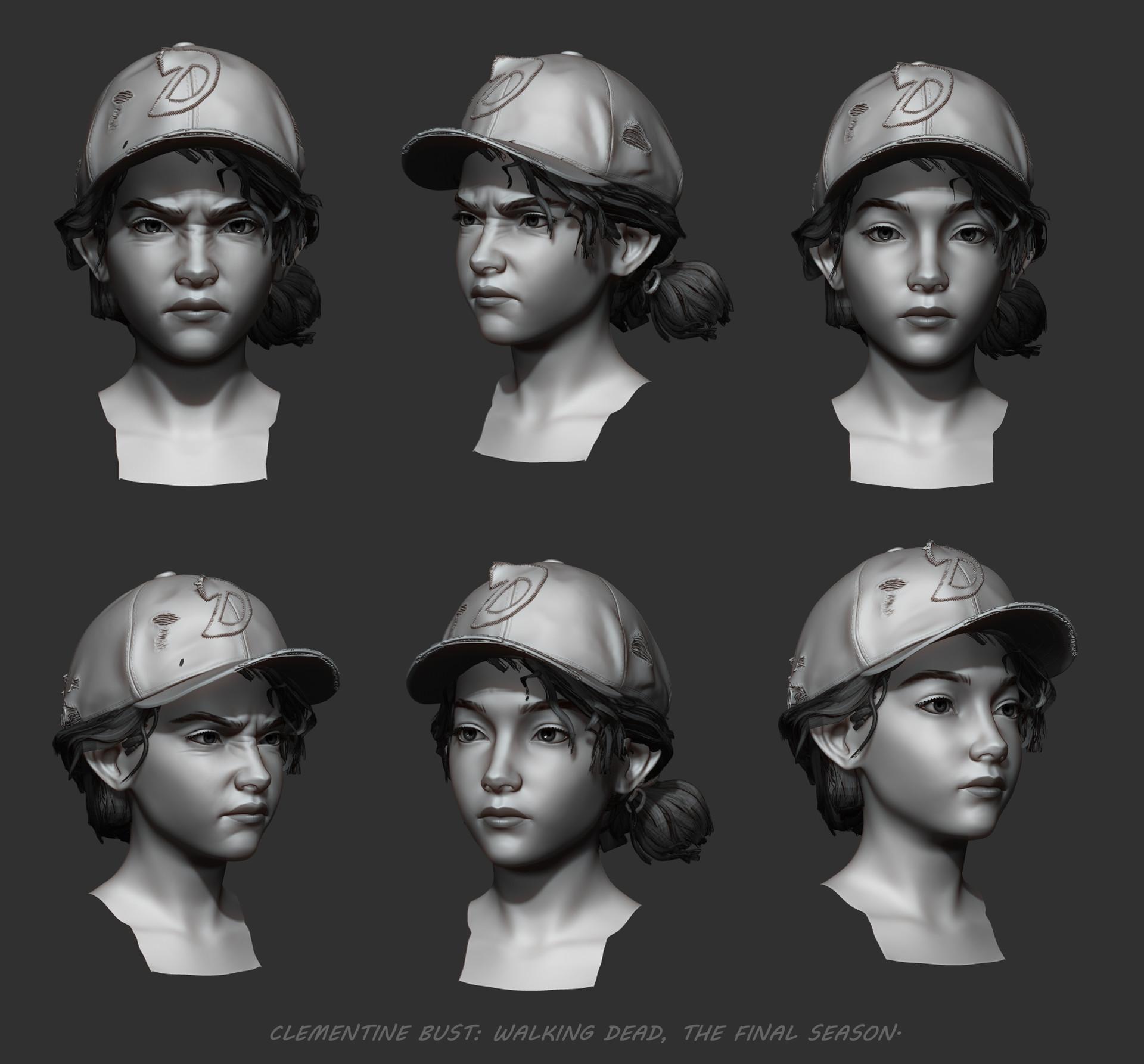 Artstation Clementine From Telltale S Walking Dead Series