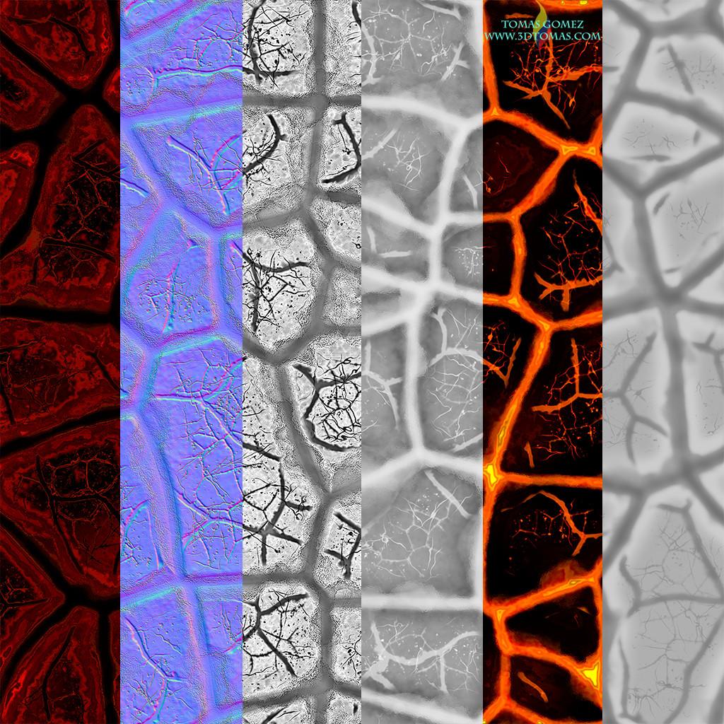 Tomas gomez lava textures