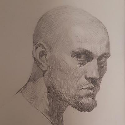 Pencil selfportrait