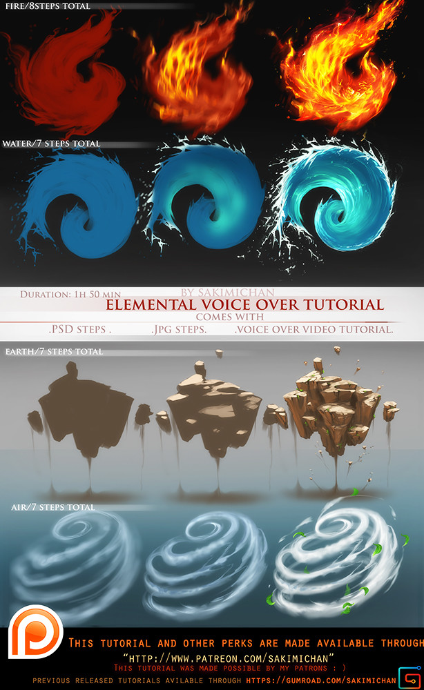 Sakimi chan elemental voice over tutorial pack promo by sakimichan daeg69a