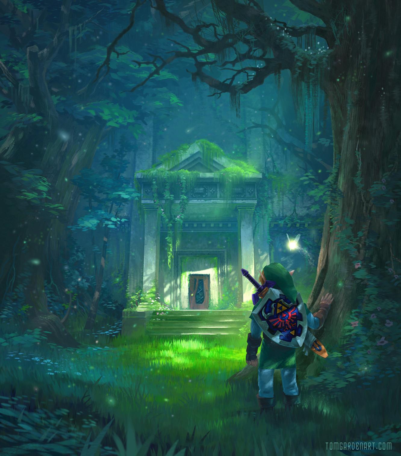 ArtStation - Forest Temple, Tom Garden